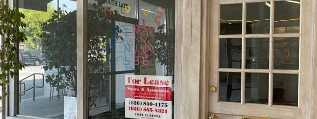 Retail space for rent Pasadena Lake Ave